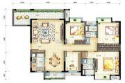 万科金色家园4室2厅2卫134平方米户型图