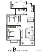 金鼎明苑2室2厅1卫95平方米户型图