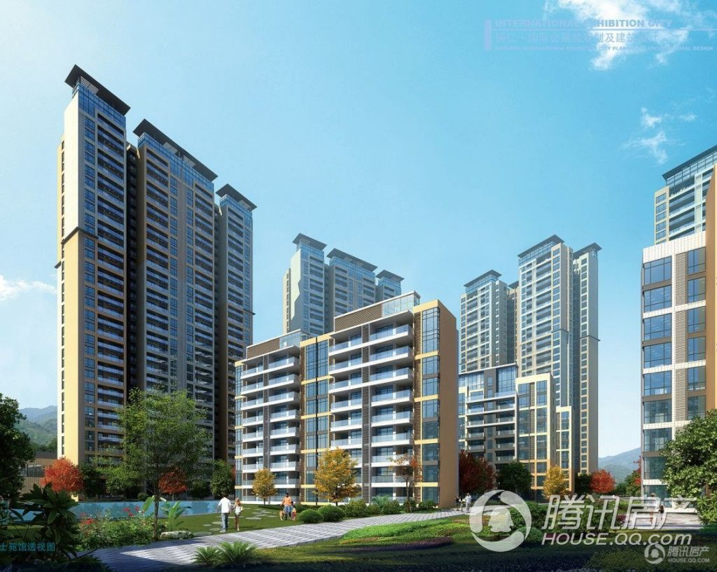 麒龙国际会展城——缤纷城住宅区(博士院馆透视图)