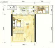 港城星座1室0厅1卫20--25平方米户型图