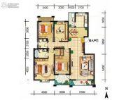 天娇苑・幸福城3室2厅2卫136平方米户型图