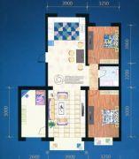 绿都花庭3室2厅1卫124平方米户型图