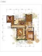 �|方米兰国际城3室2厅2卫123--135平方米户型图