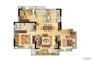 安贝尔花园3室2厅2卫89平方米户型图