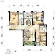 泾渭分明生态半岛3室2厅2卫115平方米户型图