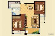 华泽天下 高层2室2厅1卫75平方米户型图