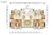 众美青城4室2厅2卫140平方米户型图