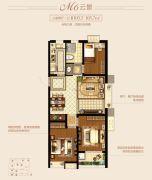 新城里3室2厅1卫103--105平方米户型图