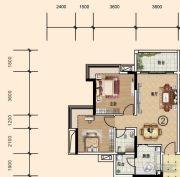 文华豪庭2室2厅1卫75平方米户型图