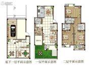 观山名筑3室2厅3卫153平方米户型图