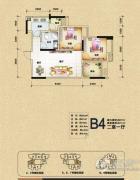 渝开发上城时代2室1厅1卫57平方米户型图