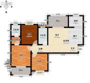 玖��新城3室0厅2卫99平方米户型图