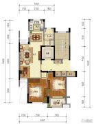 东泰・春江名园3室2厅1卫97平方米户型图