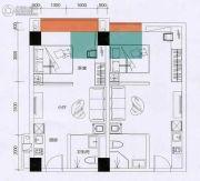 嘉珠时代广场1室1厅1卫37平方米户型图