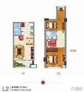 东方新天地2室2厅2卫0平方米户型图