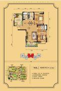 宇济・滨湖天地2室2厅2卫127平方米户型图