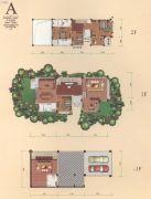 东湖山花雨别墅300--350平方米户型图