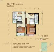 骏景溪悦1室1厅1卫48平方米户型图