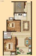 吴中万达广场2室2厅1卫88平方米户型图