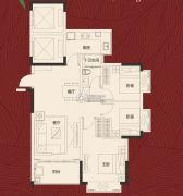 岭南世家・瑞府3室2厅1卫0平方米户型图