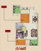 天河盛世二期2室2厅1卫96平方米户型图