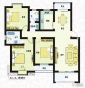 城南春天3室2厅2卫133平方米户型图