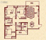 新华茗苑3室2厅2卫111平方米户型图
