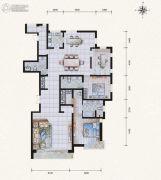 滨河果岭4室2厅4卫236平方米户型图
