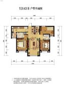 碧桂园・天誉3室2厅2卫0平方米户型图