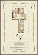 金麦加汇君城3室2厅2卫125平方米户型图