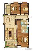 瀛海19城3室2厅2卫135平方米户型图