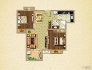 荣盛鹭岛荣府2室2厅1卫74平方米户型图