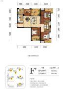 海赋长兴二期奥林阳光公园3室2厅1卫110平方米户型图