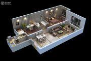 泽信加州公馆2室1厅1卫2平方米户型图