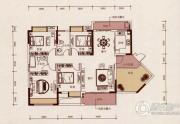 京华假日湾3室2厅2卫120平方米户型图