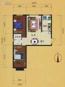 明珠丽景2室2厅1卫91平方米户型图
