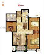 社会山西苑3室2厅1卫96平方米户型图