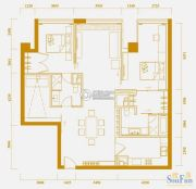 中央公馆3室2厅2卫180平方米户型图