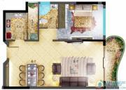 鹿茵华庭1室2厅1卫0平方米户型图