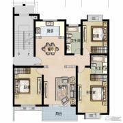 福宇凤凰华庭3室2厅2卫133平方米户型图
