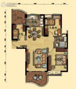 碧桂园・翡翠山3室2厅1卫115平方米户型图
