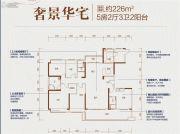 碧桂园天骄公馆5室2厅3卫226平方米户型图