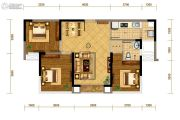 华都云景台3室2厅1卫80平方米户型图