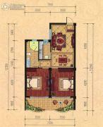 巴黎都市2室2厅1卫86平方米户型图