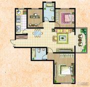 楚河花园3室2厅1卫124平方米户型图