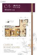 万豪世纪天街3室2厅2卫131平方米户型图