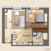 开封国际金融中心1室1厅1卫72平方米户型图