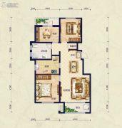 保艾尔云麓3室2厅1卫117平方米户型图