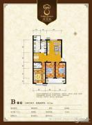 御景园3室2厅2卫122平方米户型图