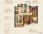 恒大悦珑湾3室2厅1卫110平方米户型图